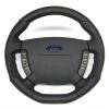 A-Tek Steering Wheel - Flat Bottom Black Alcantara Inserts - Ford BA-BF