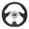 Sparco Steering Wheel - Naxos - Black with Black Trim  (330mm Diamter)