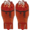 3A Racing LED Blade Globe 5200 Series (Pair) - T-10 6 LED 2.1 x 9.5 Base (Red)
