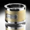 ISOTTA Urban Glow Drink Holder in Leather - Swarovski Elements - Gold Leather in snake skin pattern