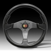 MOMO Devil Steering Wheel  - Black (350mm diameter)